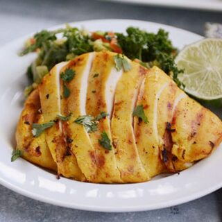 Easy Thai Coconut Turmeric Grilled Chicken