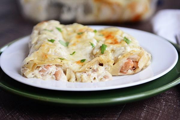 White Chicken Chile Enchiladas
