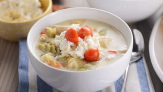 Creamy White Lasagna Soup
