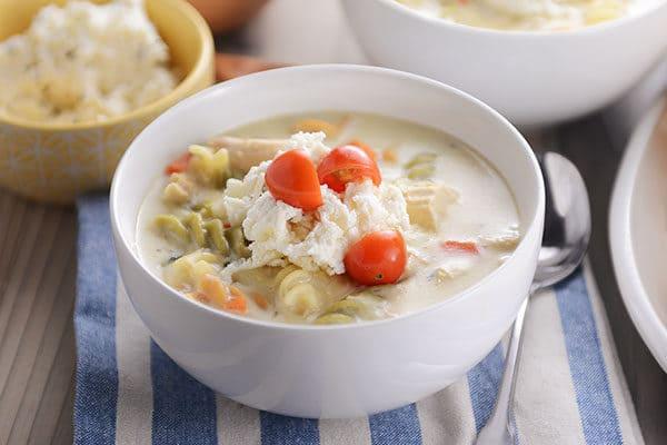 White Chicken Lasagna Soup