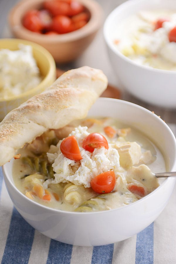 White Lasagna Soup