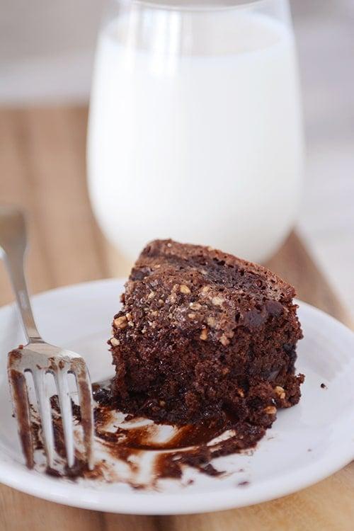 Fudgy Chocolate Chip Yogurt Cake