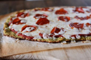 Low Carb Zucchini Pizza Crust