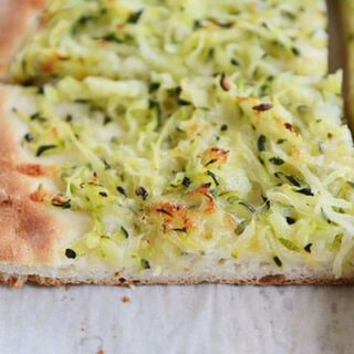 Zucchini and Cheese Topped Pizza